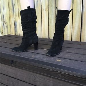 Via Spiga Leather Suede Slouchy Boots